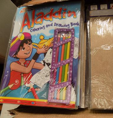 Box of 24 Aladdin colouring books