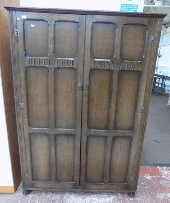 Large double Oak wardrobe