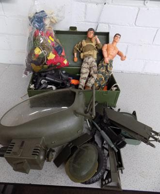 Action Man with moving eyes plus accessories