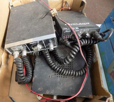 Box of CB radios etc