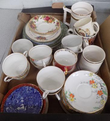 Box of mixed china