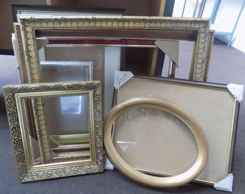 9 assorted picture frames