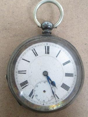 Large silver pocket watch