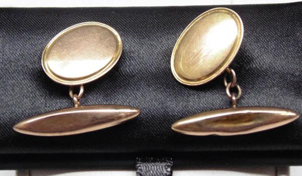 Pair of 9ct Gold cuff links