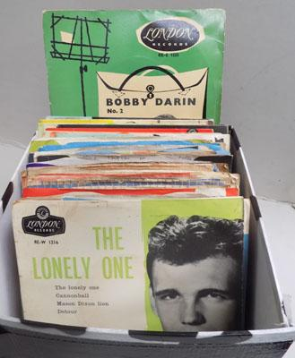 Box of collectable singles-some rare