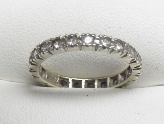 9ct White gold full eternity ring size m