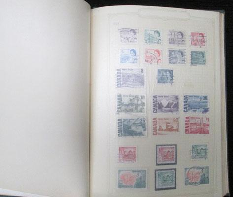 Binder of Canadian stamps from Queen Victoria