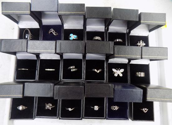 18x Sterling silver rings