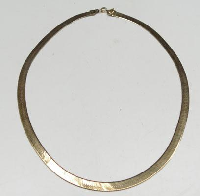 9ct Gold herring bone necklace