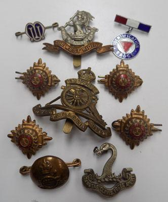 Selection of cap badges