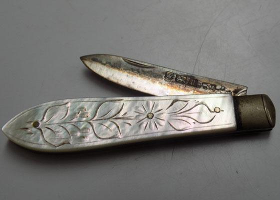 Silver & Mother of Pearl knife