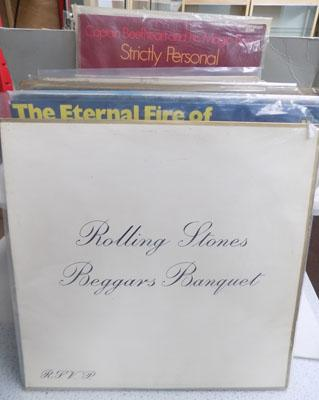 Box of LP's inc Rolling Stones-Beggars Banquet
