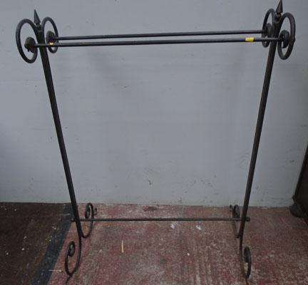 Wrought iron heavy clothes stand