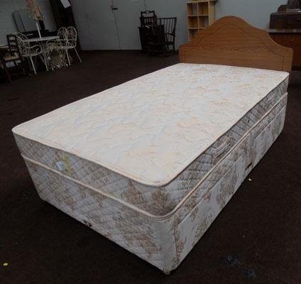 Sealy divan bed with headboard