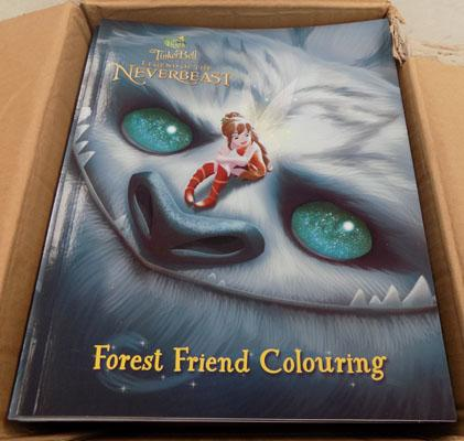 Box of Tinkerbell colouring books