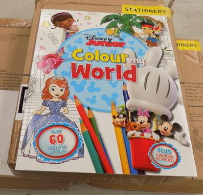 3x Boxes of Disney colouring books