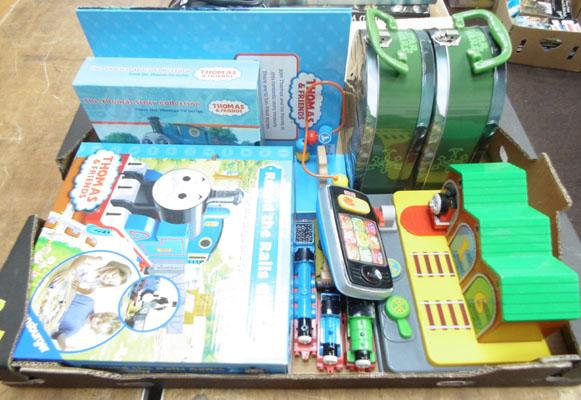 Box of Thomas the Tank engine & Star Wars lunch boxes