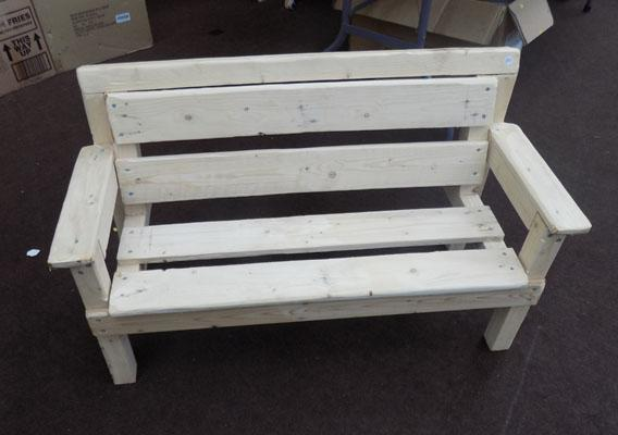 Child's home made bench