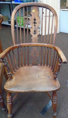Carved Windsor chair