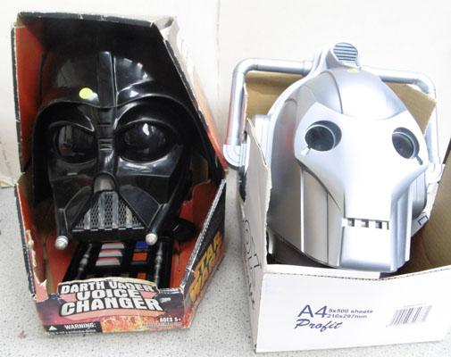 Darth Vader & Cyberman voice changers-batteries included w/o