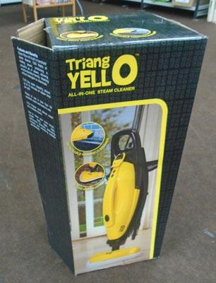 Triang yello steam cleaner in box (new)