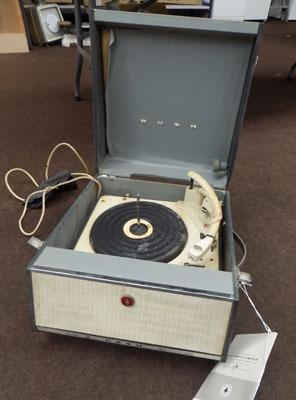 Vintage Bush record player in case