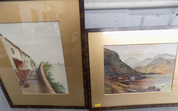 2 water colours by JA Gibson 1934