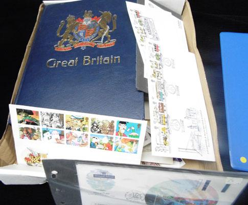 Selection of stamp albums etc