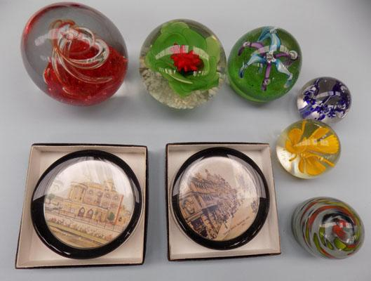 Selection of paperweights
