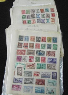 Large quantity of stamp album pages