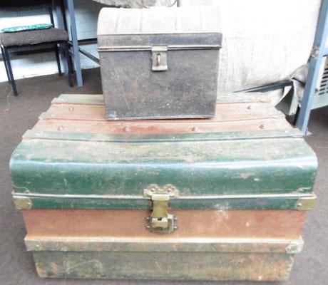 Vintage store trunk & container