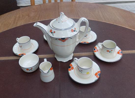 Woods ivory ware coffee set