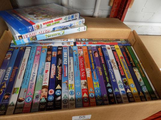 Box of childrens DVD's inc Blue Ray