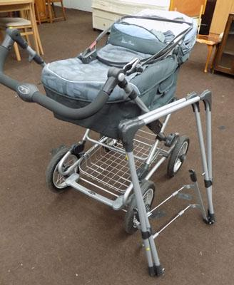 Silver Cross pram & cot stand & accessories