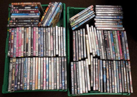 2x Trays of mixed DVD's