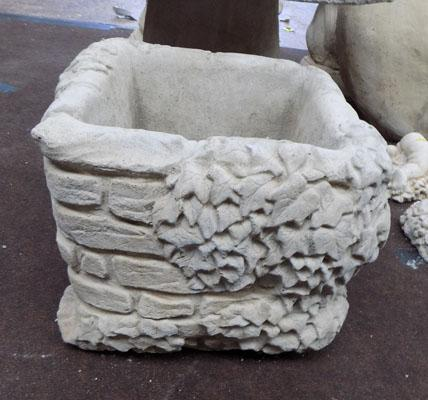 Large square decorated planter