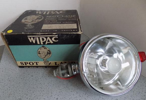 Vintage scooter or car spot lamp (boxed)