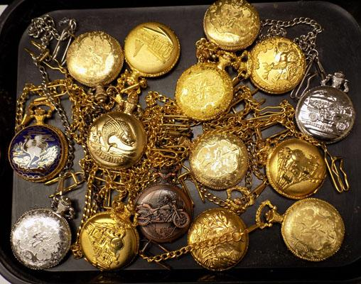 Various pocket watches (some need batteries)