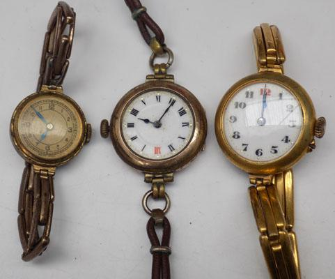 3 vintage watches including 15 jewel