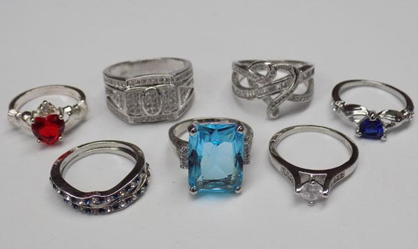 Selection of rings stamped 925