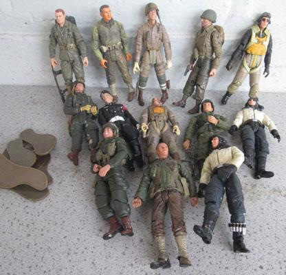 Collection of 21st Century WWII figures US