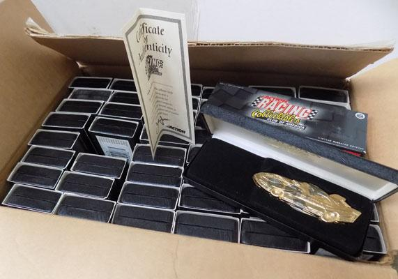 Box of collectable racing knives