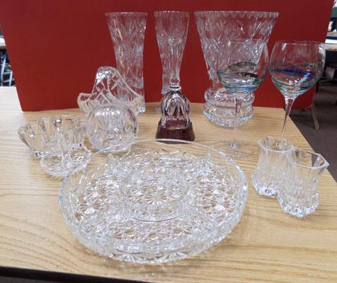 Large collection of cut glass