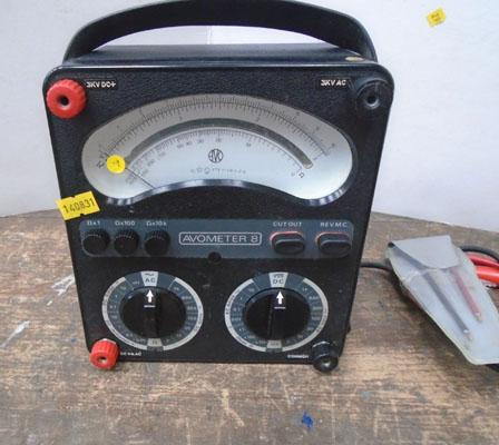 Avo 8 multimeter with leads