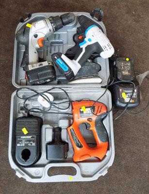 Selection of drill & chargers inc Black & Decker