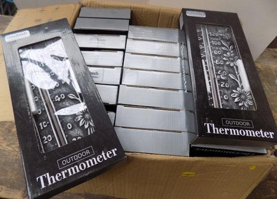 Box of outdoor thermometers