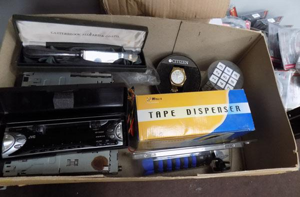 Box of mixed items inc car stereos etc