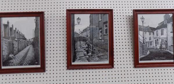 Set of 3 Black & White pictures in frames