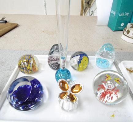 Various glass items