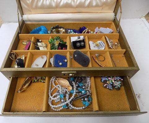 Jewellery box of costume jewellery